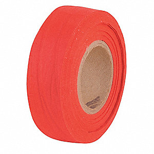 "Biodegradable Flagging Tape, Red, 1"" x 100 ft."