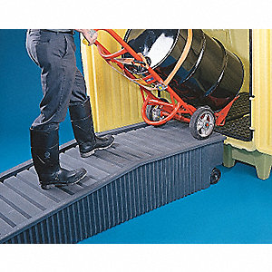 Drum Hut Ramp,Black,1000lb.