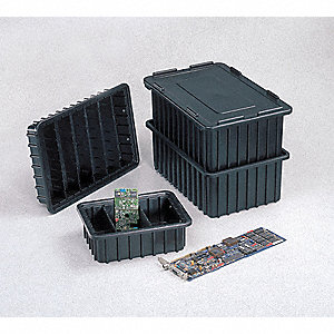 ESD Box Divider,Black,15-1/4in.x5-3/8in.