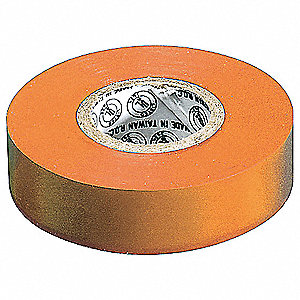 "Orange Vinyl Electrical Tape, 3/4"" Width, 22 yd. Length, 7 mil Thickness"