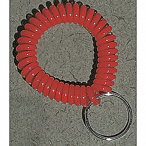 Wrist Coil with Key Ring,Red