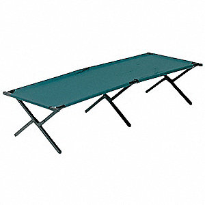 Fold Up Cot,Steel,75Lx26Wx16H,Green