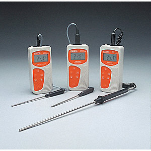 RTD Thermometer,-328 to 1562 deg F,LCD