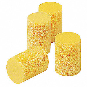 29dB Disposable Cylinder-Shape Ear Plugs&#x3b; Without Cord, Yellow, Universal