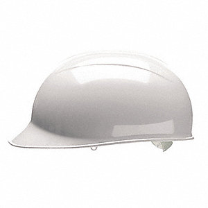 White Polyethylene Bump Cap, Style: Front Brim, Fits Hat Size: One Size Fits Most