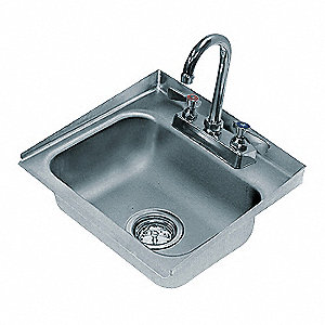 "16"" x 15"" x 5"" Drop-In Sink with Faucet with 10"" x 14"" Bowl Size"