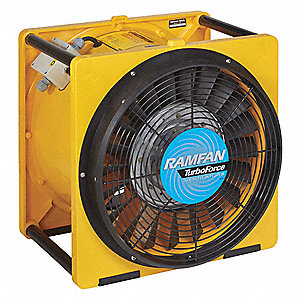 Axial Confined Space Fan, 1/2 HP HP, 115V Voltage, 1725 rpm Blower/Fan Speed