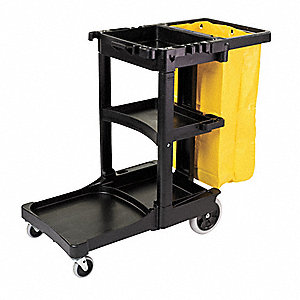 Black, Structural Web Plastic and Aluminum Cart and Trolley