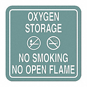 No Smoking Sign,5-1/2 x 5-1/2In,WHT/Jade