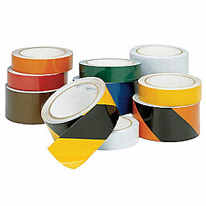 "Reflective Marking Tape, Striped, Roll, 2"" x 30 ft., 1 EA"