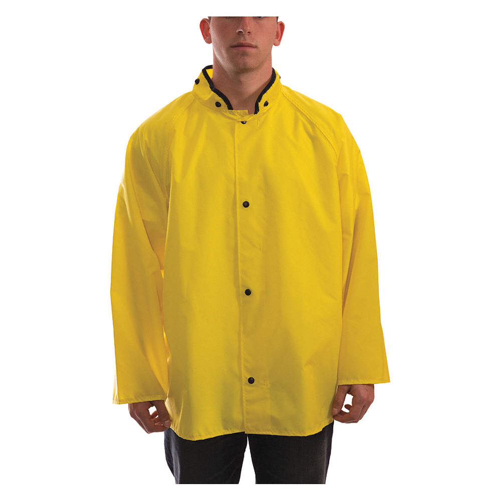 great discount sale search for best promo codes Rain Jacket, PPE Category: 0, High Visibility: No, Nylon, Polyurethane, XL,  Yellow