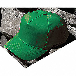 Green Polyethylene Bump Cap, Style: Baseball Style, Fits Hat Size: 6-7/8 to 7-5/8