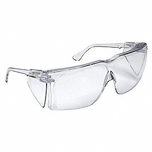 Tour-Guard  Uncoated Safety Glasses, Clear Lens Color