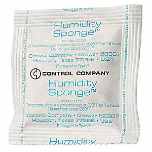 Humidity Indicator Sponge,3x3 Card,PK40
