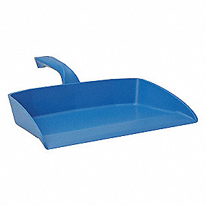 "Polypropylene Hand Held Dust Pan, Overall Length 11-1/2"", Overall Width 13"""