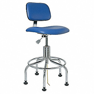 ESD Cleanroom Chair,Blue,25-30in