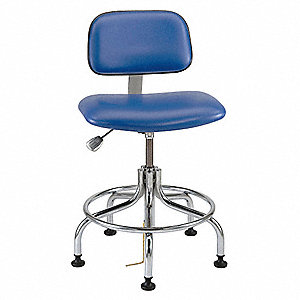 ESD Cleanroom Chair,Blue,20-25in
