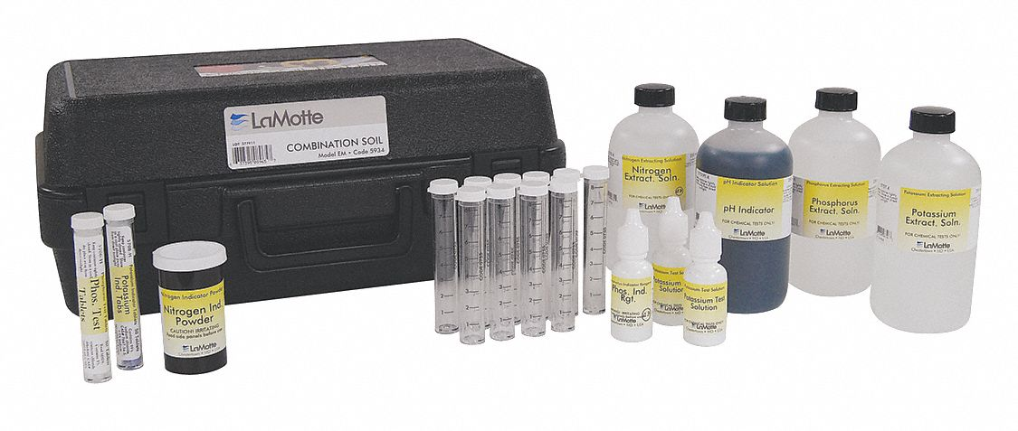Model EM Soil Test Kit,  4 to 8 ph pH Range
