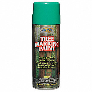 Solvent-Base Tree Marking Paint, Green, 16 oz.