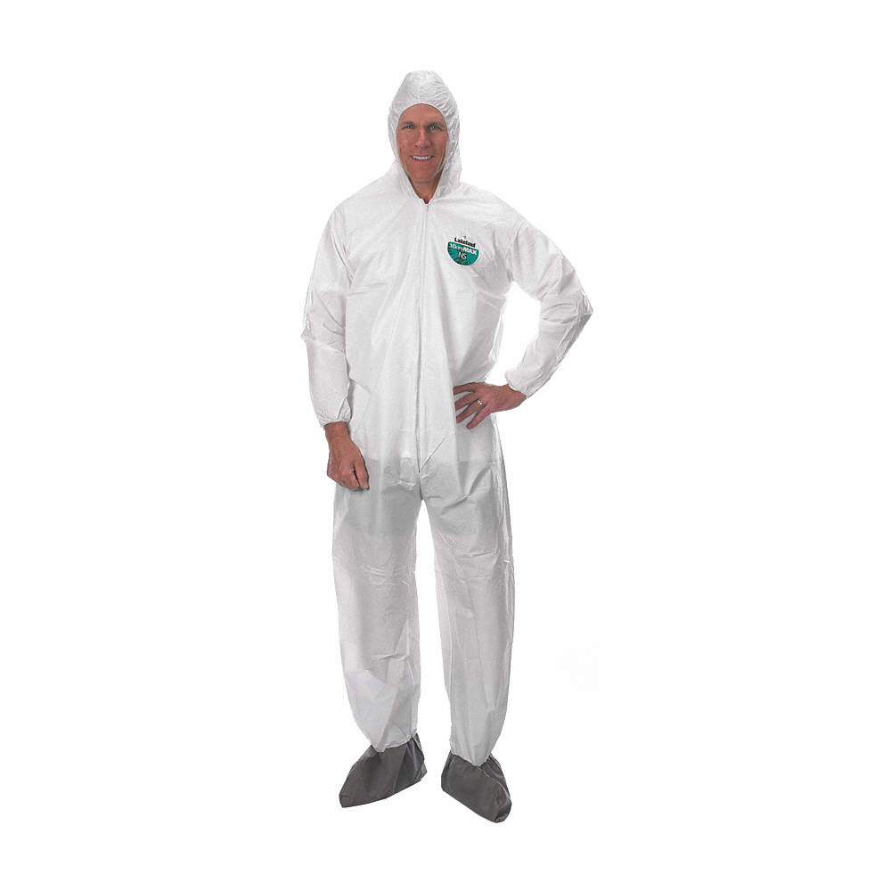 Elastic Cuff 2X-Large Case of 25 Lakeland Industries Inc CTL414-2X White Lakeland MicroMax NS Microporous General Purpose Disposable Coverall with Boots