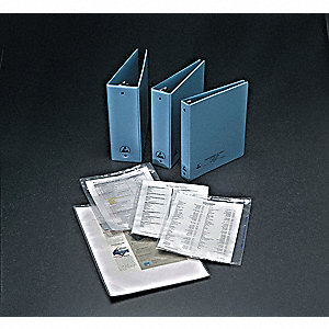 Static Dissipative Binder, 1.5 In, Vinyl