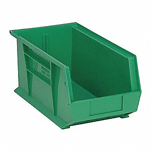 Hang/Stack Bin,14-3/4L x 8-1/4W,Green