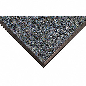 "Indoor Entrance Mat, 5 ft. L, 3 ft. W, 3/8"" Thick, Rectangle, Blue"