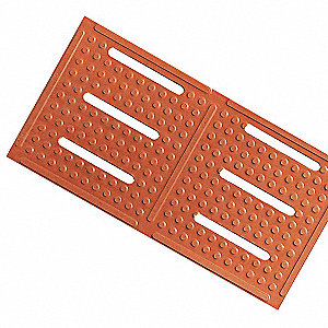Drainage Runner, Red, 60 ft. x 4 ft., Nitrile Rubber, 1 EA