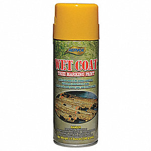 Solvent-Base Tree Marking Paint, Yellow, 12 oz.