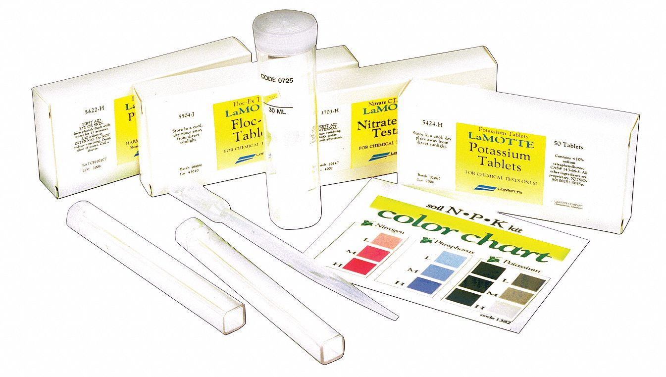 NPK Soil Test Kit,  Includes Apparatus, Simple Diagrammed Instructions, Laminated Color Chart