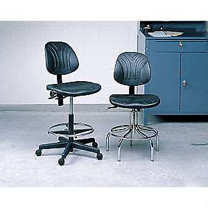 DELUXE CHAIR W/CHROME BASE, 24-29IN