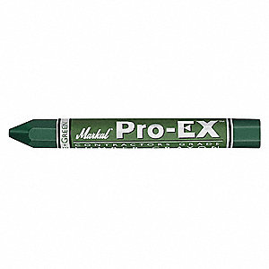 Lumber Crayon, Greens Color Family, Hex Tip Shape, -20°F Min. Temp., 12 PK