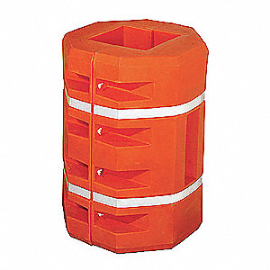 "Orange Column Protector, Fits Column Size 18"", Fits Column Shape Square"