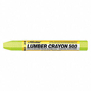 Lumber Crayon, Yellows Color Family, Hex Tip Shape, -20°F Min. Temp., 12 PK