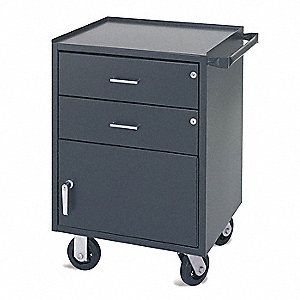 "20"" x 23"" x 34"" Gray Mobile Utility Cabinet"
