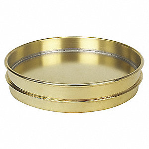 Pan, Brass, 8 In, Half Ht,Extended Rim