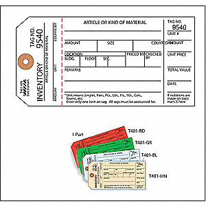 Inspection Tag,Cardstock,Inventory,PK100