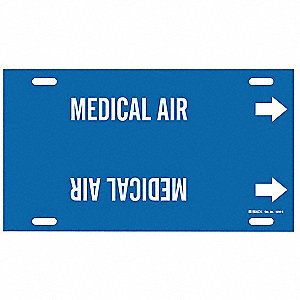 Pipe Marker,Medical Air,Bl,8 to9-7/8 In