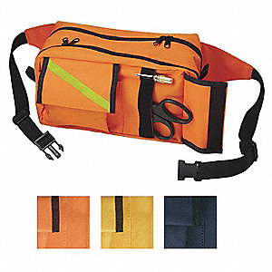 Fanny Pack,Nylon,Orange,10inx6inx5in.