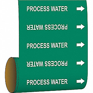 Pipe Marker,Process Water,Green
