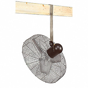 "24"" Commercial Ceiling-Mounted Non-Oscillating Air Circulator"