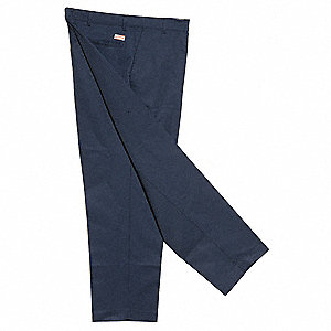 "Men's Industrial Work Pants, 65% Polyester/35% Cotton, Color: Navy, Fits Waist Size: 40"" x 30"""