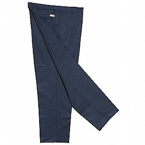 "Men's Industrial Work Pants, 65% Polyester/35% Cotton, Color: Navy, Fits Waist Size: 29"" x 34"""