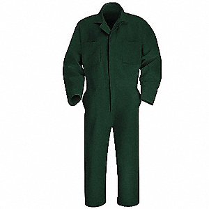 Coverall, Chest 46In., Green