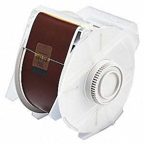 "Outdoor Polyester Label Tape Cartridge, Brown, 2-1/4""W x 100 ft."