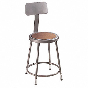 Round Stool,Yes Backrest,19 in to 27 in