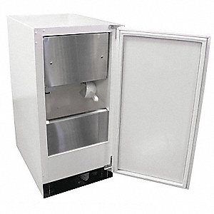 Ice Maker, 35 Lb. Storage Capacity,White