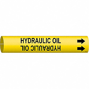Pipe Markr, Hydraulic Oil, 2-1/2to3-7/8 In