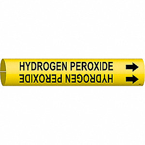 Pipe Mrkr, Hydrogen Peroxide, 2-1/2to3-7/8