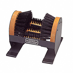 Boot Brush,Black,9 in.